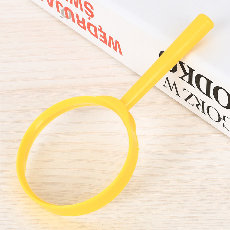 Wholesale Handheld 60MM Classroom Teaching Children Outdoor Color Plastic 3X Reading Magnifier Educational Toys