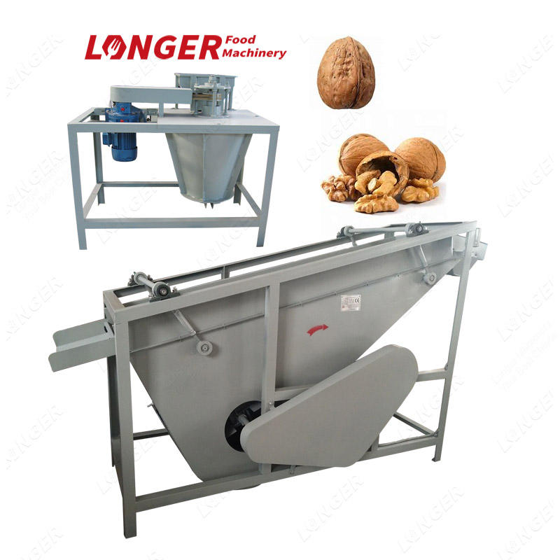 Professional Dry Walnut Cracking Machine and Kernel Shell Seperator/walnut shelling machine