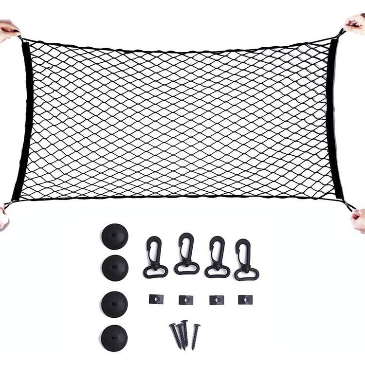 60 x 120CM Adjustable Elastic Trunk Cargo Organizer Nylon Mesh Cargo Net Rear Car Luggage Net