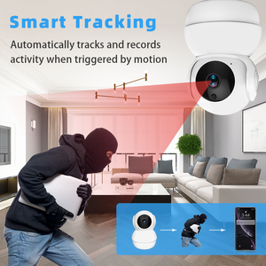 1080p wireless ip security camera Pan/Tilt/Zoom Wi-Fi Indoor Casa Intelligente Telecamera nascosta con Visione notturna, 2-Way Audio