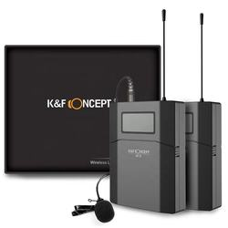 K&F Concept wireless microphones 6 channels wireless conference microphone wireless uhf
