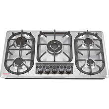5 Burner Hob Appliance Kitchen Home Cover Auto Ignition Gas Stove