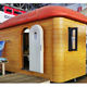 Luxury professional design prefabricated sun garden house log cabin