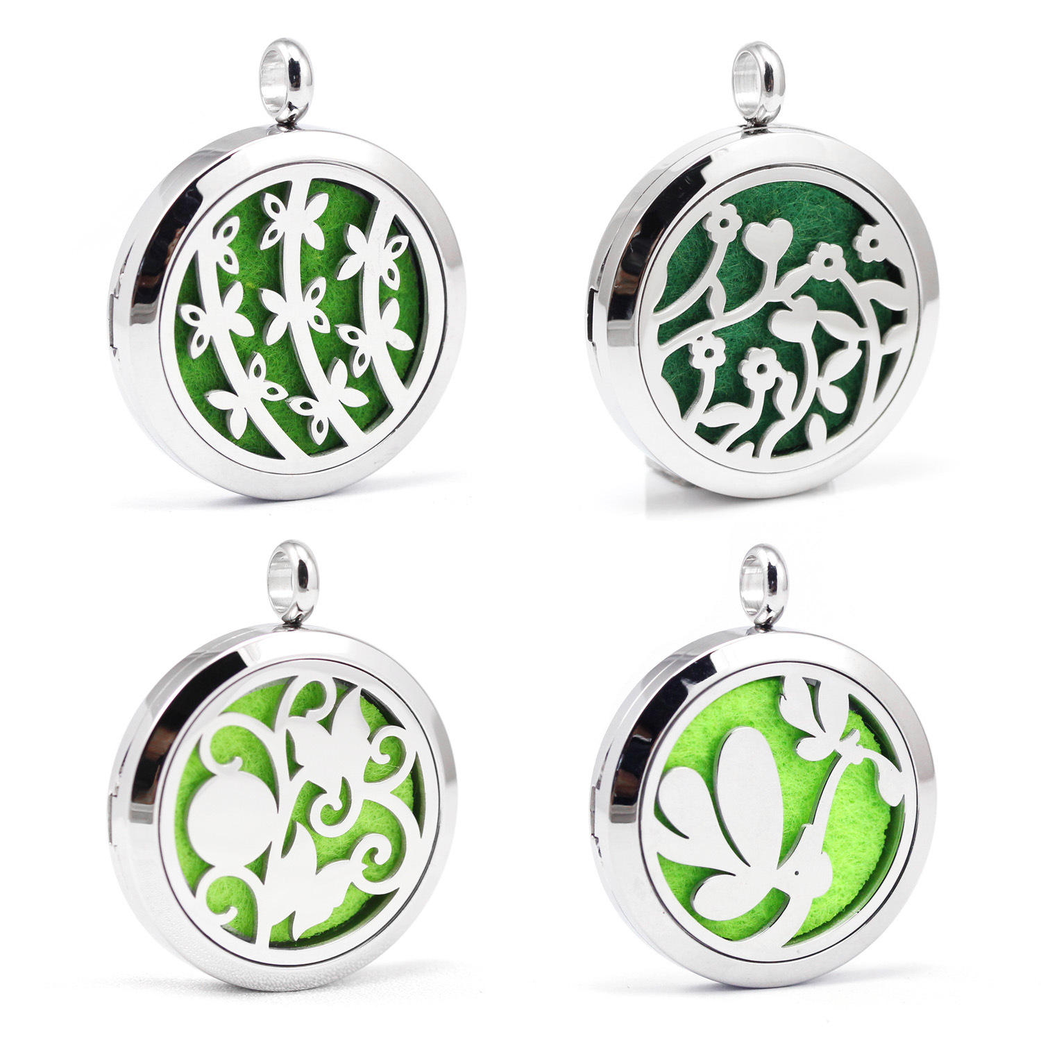 154 Styles 30mm Necklace Jewellery Pendants Diffuser Pendant Essential Oil Tree Shape Fashion Aromatherapy Jewelry