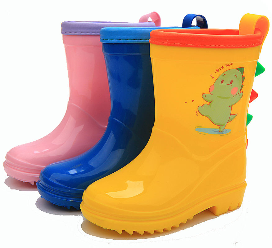 children pvc colorful half fashion latest waterproof rain boots rainboots for kids
