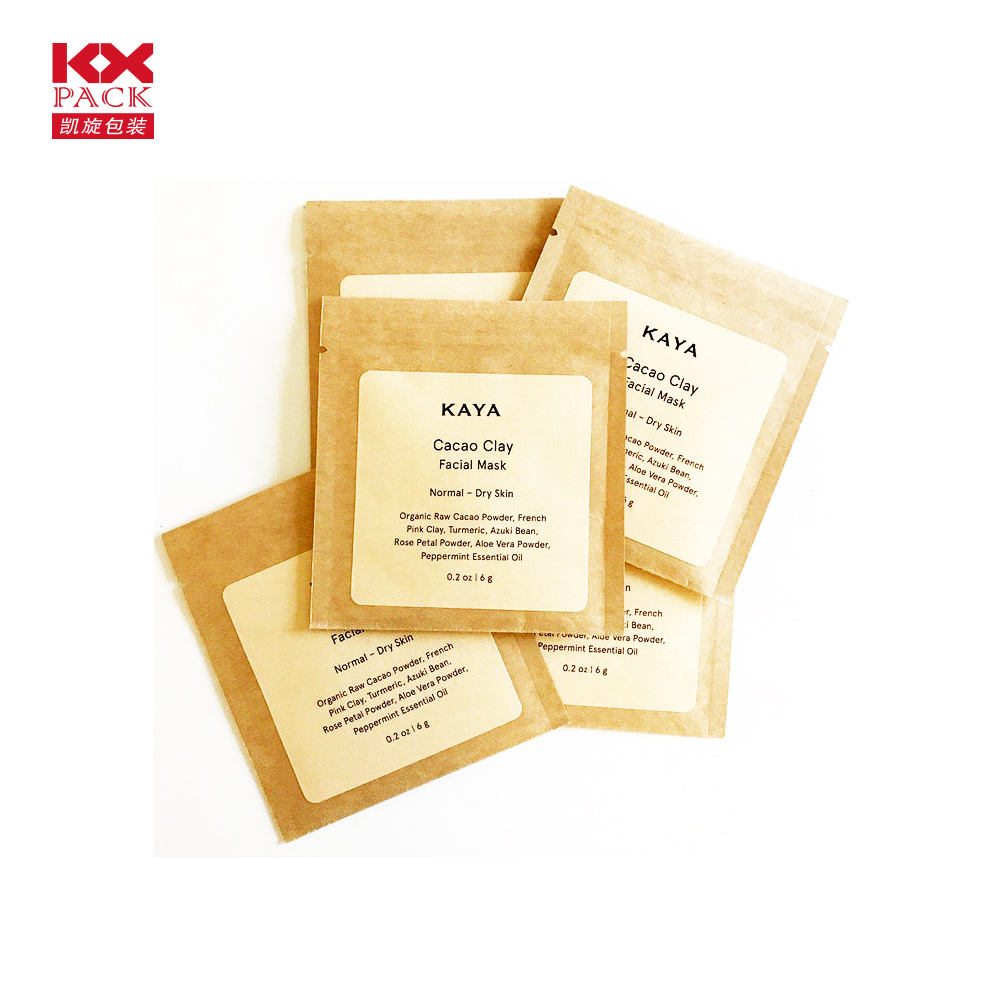 Kraft Paper Bag Foil Cheap Zipper Pouch For Tea Gift Snack Small Sachet Bag For Individual Packing Bag