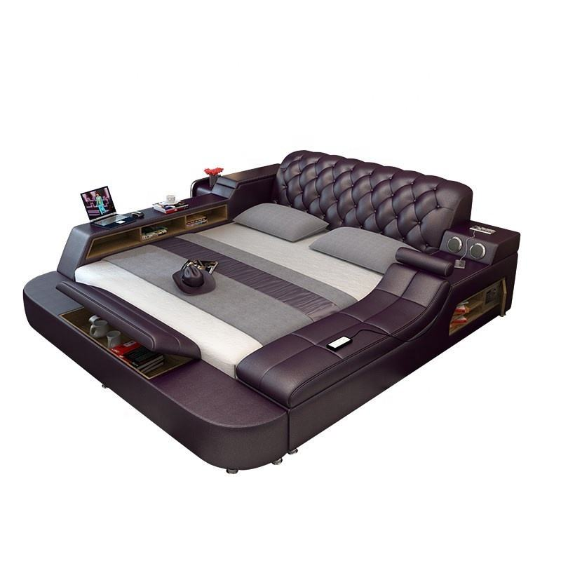 modern bed with storage massage functions multifunctional bed sets