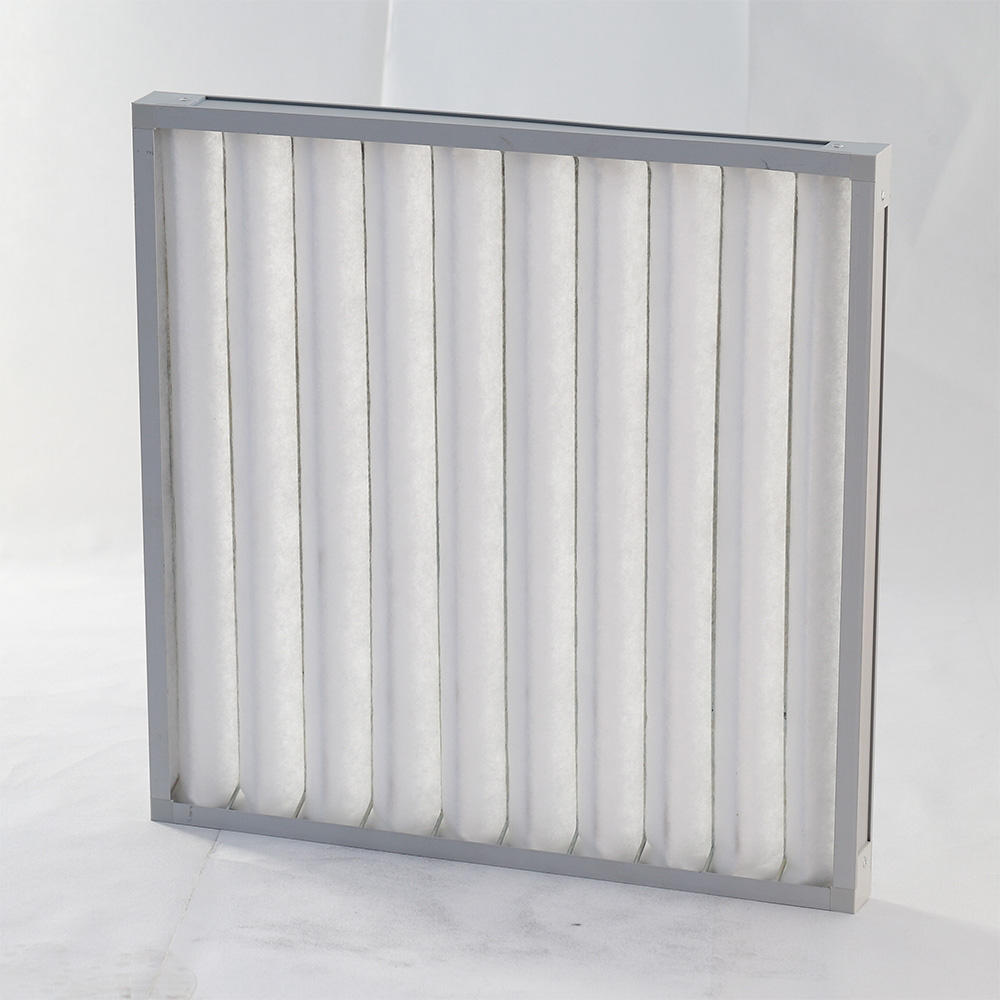 Wholesale Initial Effect Plate Aluminum Frame / Galvanized Fold Air Filter