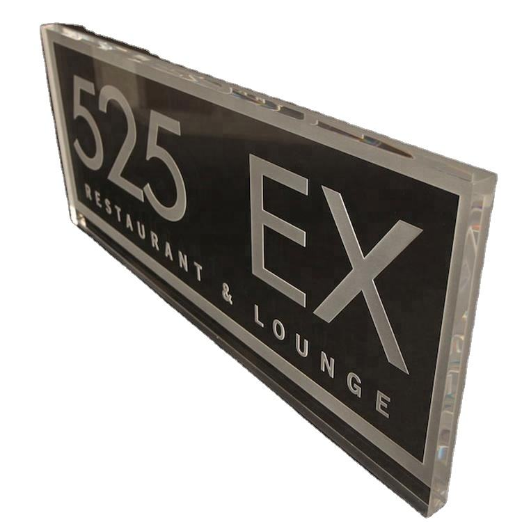 Factory OEM Cut to Size Clear Plastic Laser Cut and Engraved Transparent Acrylic Name Plate
