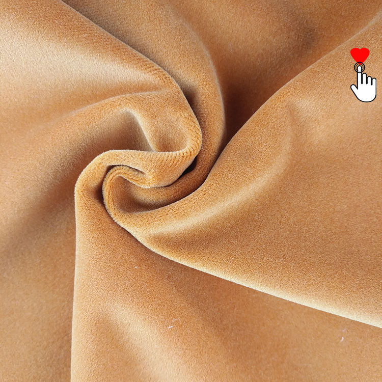 Factory wholesale high quality Super soft touch 330GSM upholstery Matte velvet fabric