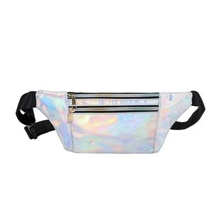 Wholesale Designers Holographic Pink Silver Women Belt Bag Ladies Waist Pouch Women Fanny Pack For Women