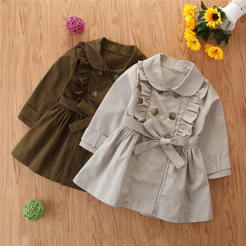 warm autumn and winter turn-down collar button baby coat and jacket for girls