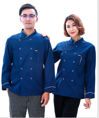 spring autumn long sleeve chef coat high quality chef jacket restaurant bar workwear uniform