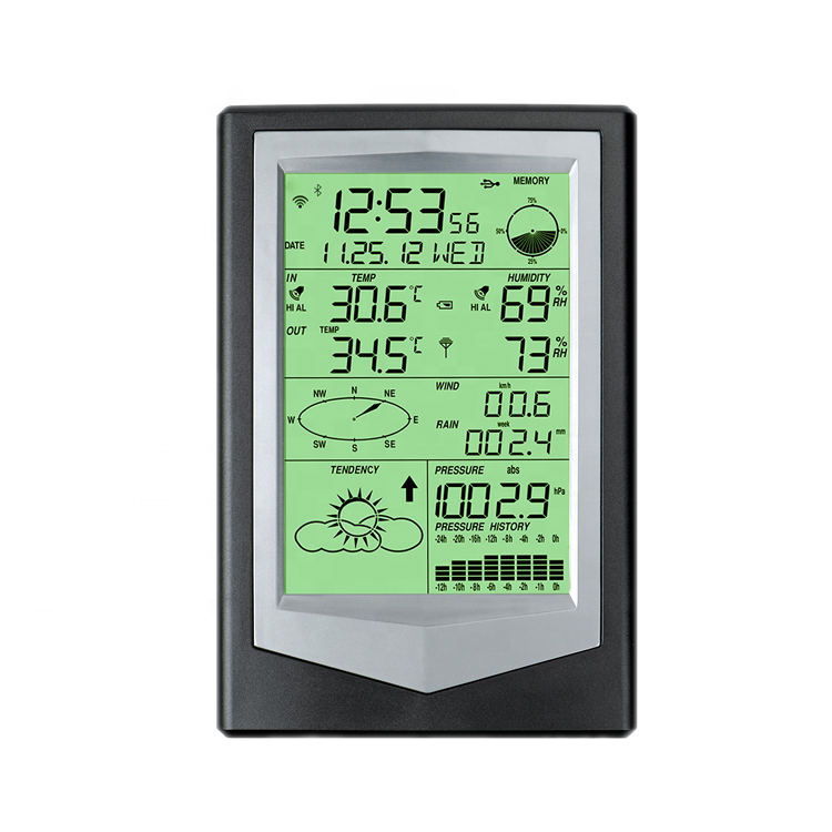 Wireless Weather Station with Data Storage and wifi /rainfall / thermometer /hygrometer /wind speed
