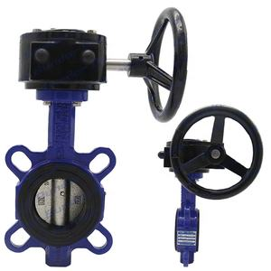 Bundor DN50-1200 150LB worm gear operated wafer butterfly valve price list