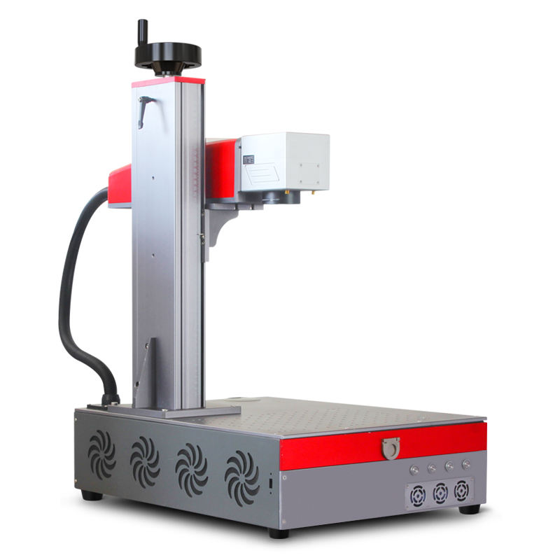 Metal engraving fiber optic laser marking machine 20W 30W 50W watt