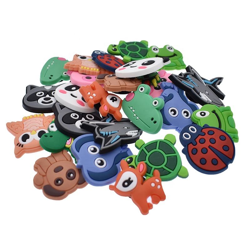 Cute 3D PVC Plastic Shoe Charms Animal Flower Shaped Fit Clog/Bracelets