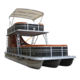2020 New Direct Manufacturer Luxury Double Decker Pontoon Fishing Boats With Slide