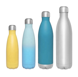 Air transfer colorful 750ml BPA free eco-friendly double wall stainless steel iron flask sports water bottle thermos gym bottle