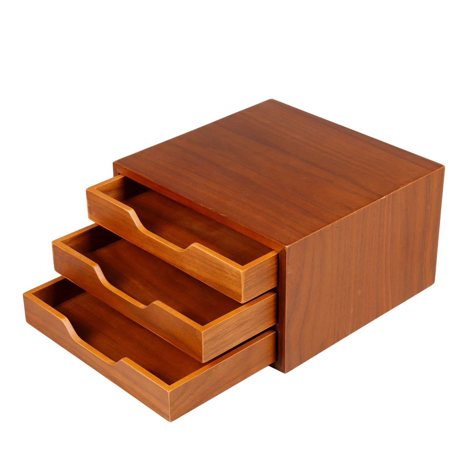 Storage Drawer Box Custom Natural Wood Color Packaging Storage Tea Wooden Box With Drawers