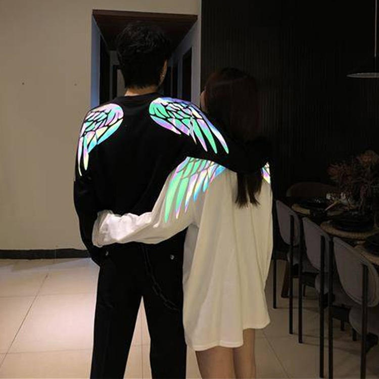 Customized long sleeve reflective clothing glow in the dark tee shirts
