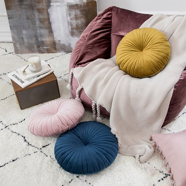 Nordic style Removable Washable Fashion Round Shape cushion Chair Floor Sofa cushion Creative Seat Cushion