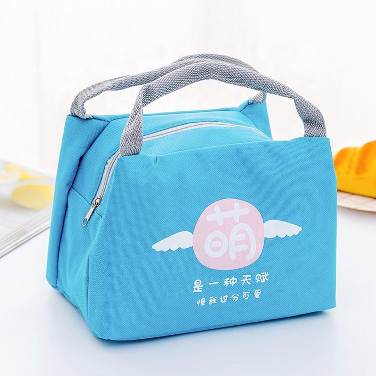 Cute Insulation Thermal Lunch Bag Waterproof Oxford Food Storage Picnic Cooler Bag Cartoon Bear Zipper Small Lunch Bag
