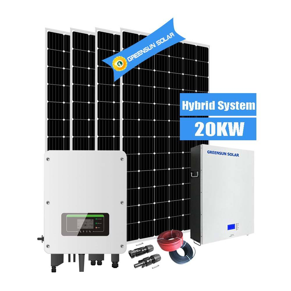 Complete 20KW Solar Lighting System 20000w Hybrid Panel Solar Power Systems for Sale