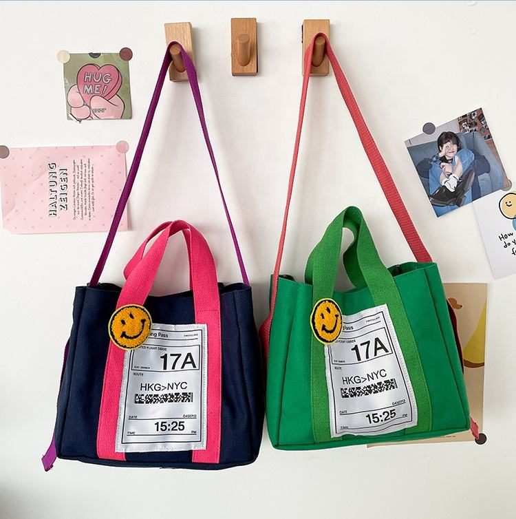 2021New trend luxury tote canvas bag one shoulder slanting portable leisure travel candy colored mummy bag