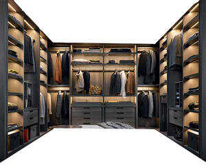Top quality New Modern Home Customized Wardrobe Design for Dressing Room Walk in Closet
