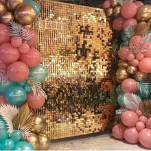 Stunning Iridescent Gold Mirror Sequin Shimmer Wall Backdrop