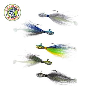 3/4 oz. Bucktail Jig Jiggin' Dipper Fishing Lure for Saltwater or Freshwater, Offshore or Inshore Fish Jigging Teasers
