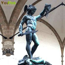 life size famous classical figure bronze Perseus with medusa sculpture