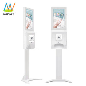 Hand Sanitizer Dispenser with 21.5 Inch Floor Stand Lcd Advertising Player Digital Signage Display Kiosk