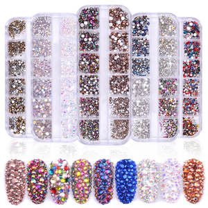2020 nail salon decorazione forniture 3d di strass shinny diamante del chiodo decorazioni di arte per le unghie