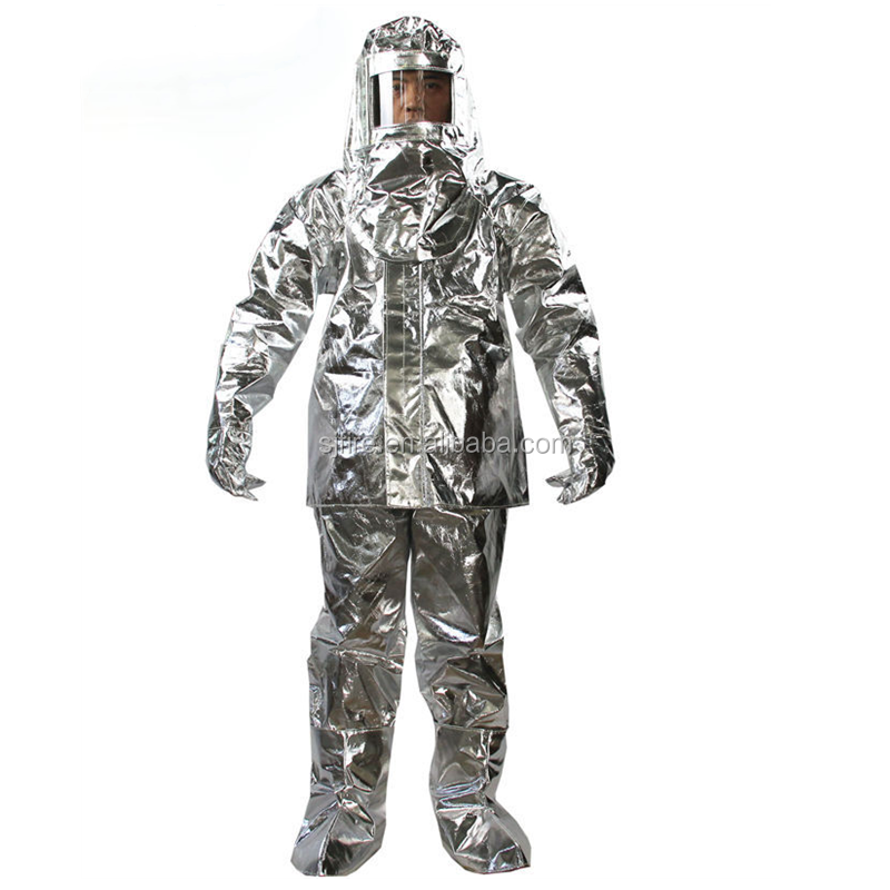 High temperature resistant fireman suit Aluminum Fire Fighting Protective safety clothing