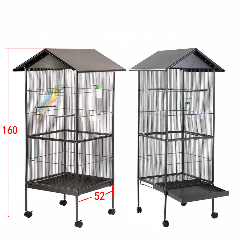 China Manufacturer Non-Toxic rain-proof Macaw Cockatoo large Pet House metal handmade bird cage