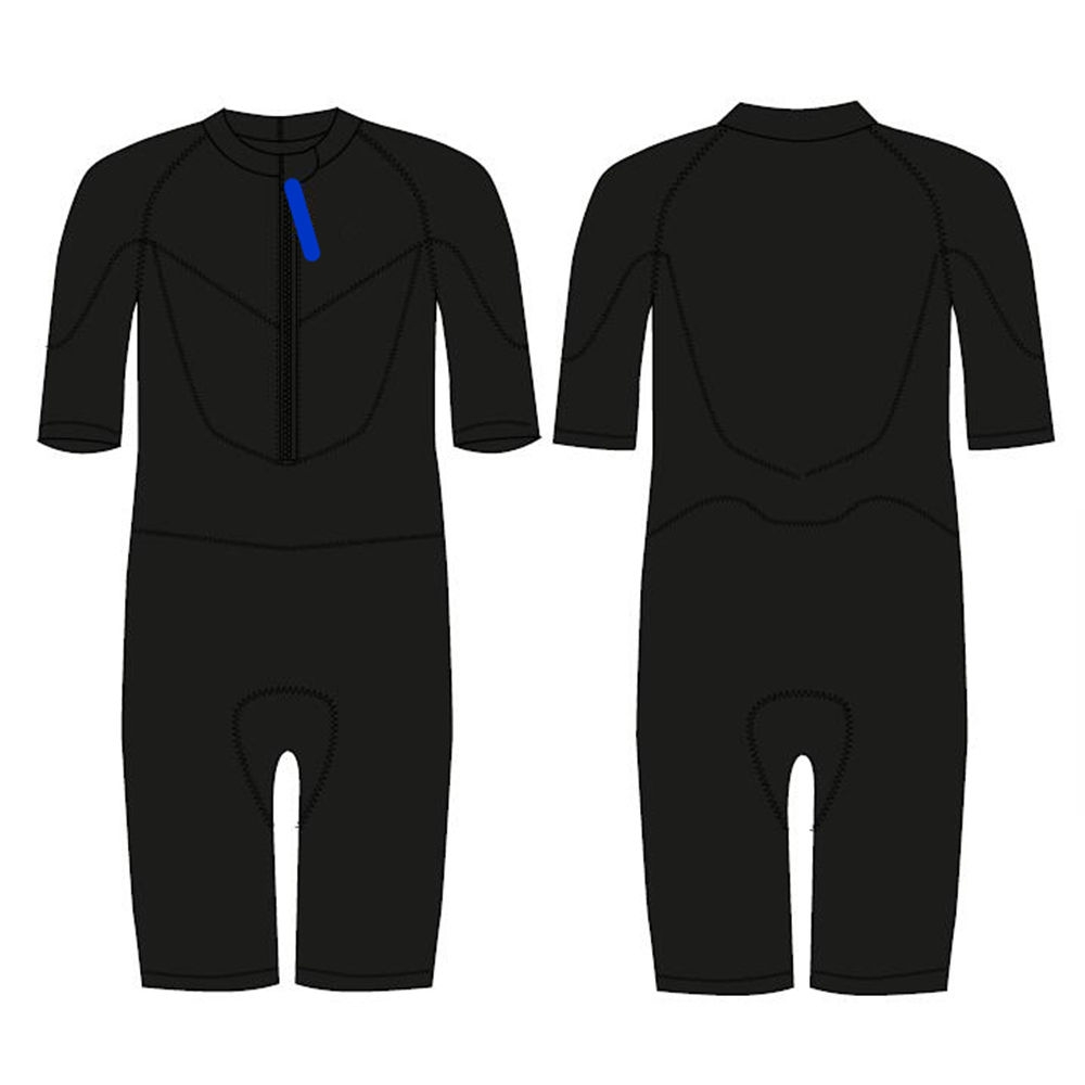 2.5mm Short Sleeve and Short Leg Surfing Wetsuit for Men and Women