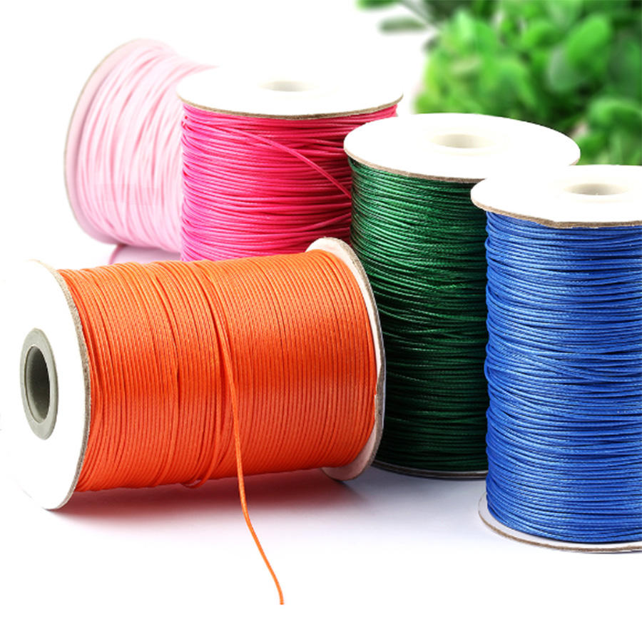 wholesale high quality wax thread 1mm waxed nylon thread sewing waxed thread for crochet
