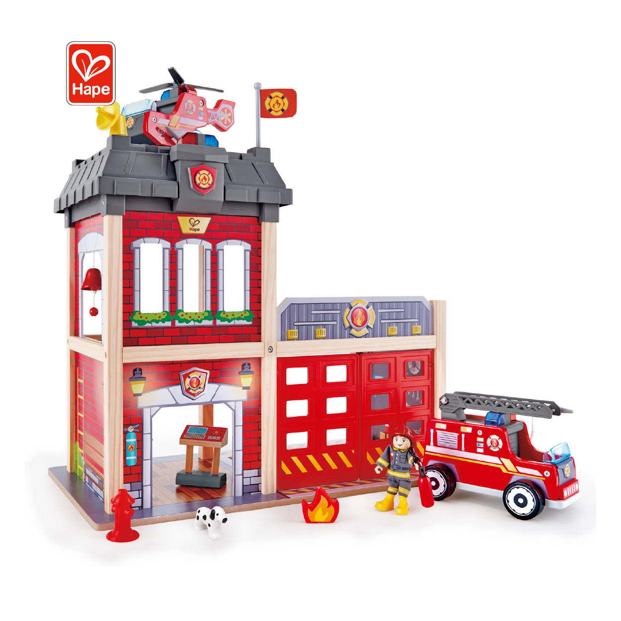 Cheap Hot Sale Top Quality City Fire Station Building Blocks Toys Light Block Building