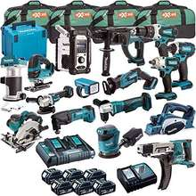15 Pieces Set Makitas LXT Lithiu-ion 18 Volt Cordless Combo Kits
