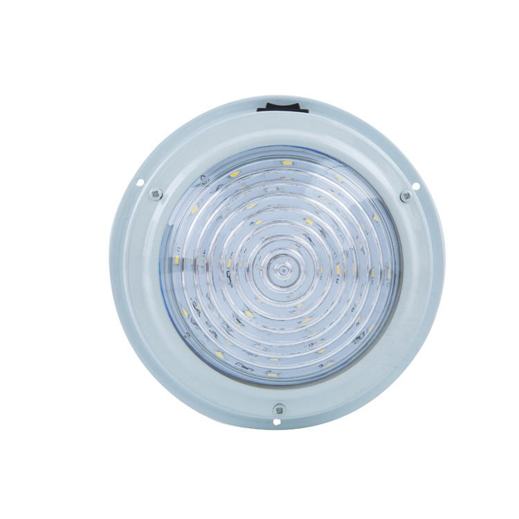 Manufacturing 7 inch 12v boat underwater led light with aluminum white painted