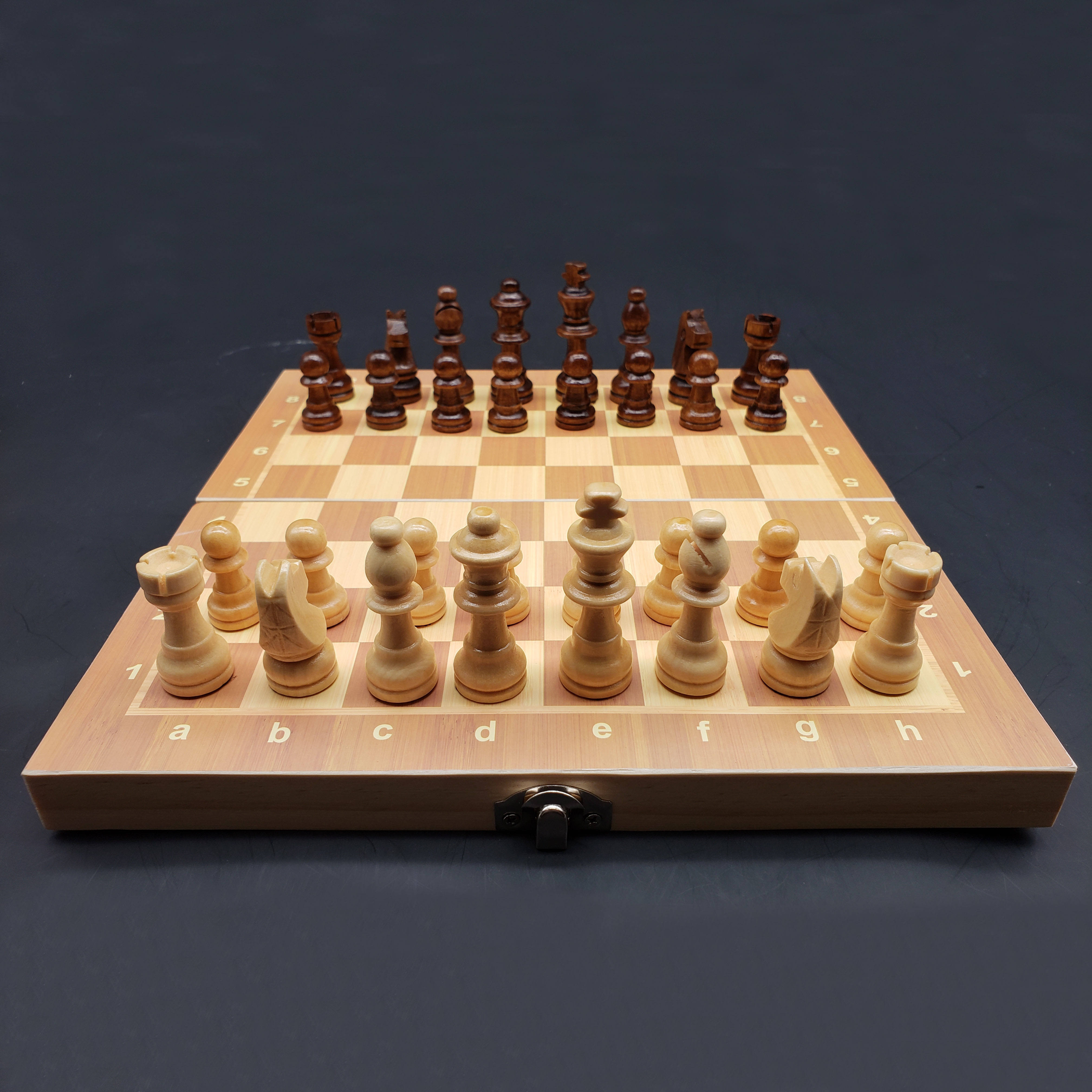 Wholesale Custom Wooden Chess Foldable Magnetic Chess Board Set