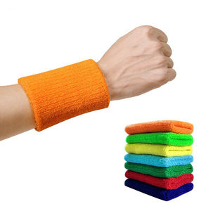 HUALIAN Custom Cotton Sports Basketball Sweatband Wristband Wrist Sweatband