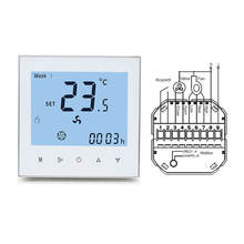 HVAC heating and cooling controller Wifi remote control or Modbus hotel room thermostat with key card