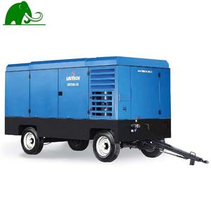 12 Bar Tinggi Air-Pressure Diesel Air Compressor Portable Air Baik Pengeboran Peralatan Pertambangan