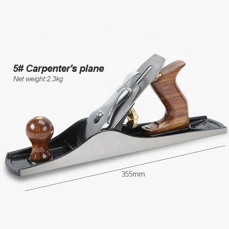 High quality wood working tools iron adjustable carpenter plane wood jack plane