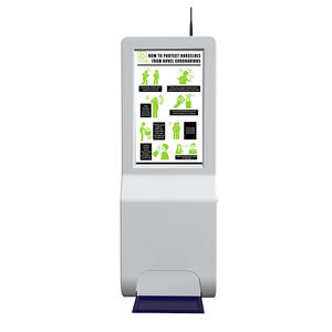 Smart Screen Met Stand Auto Schuim Handdesinfecterend Dispenser Lcd Digital Signage Reclame Spelen
