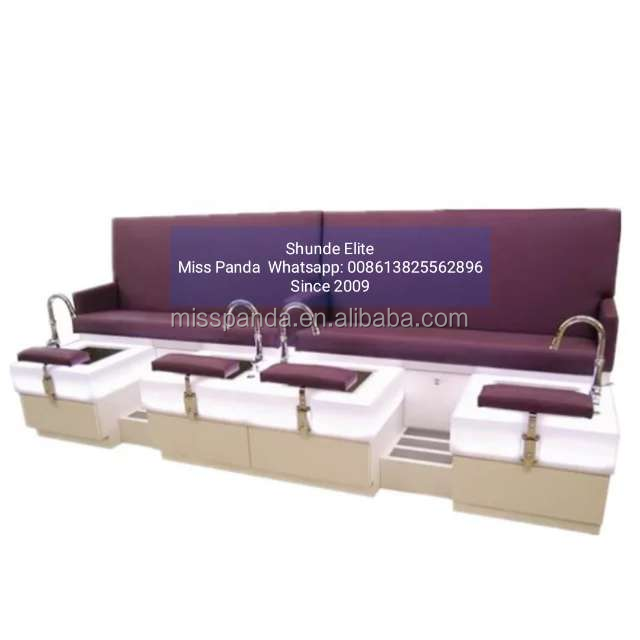Pedicure supplies supplies double seats pedicure spa chair or bench luxury massage foot spa pedicure chair with bowls