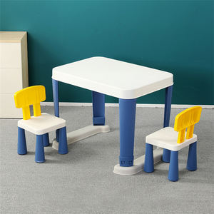 Plastic kindergarten folding kids study table and chair study table set for students